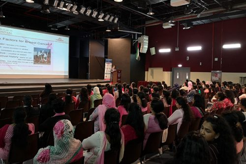 Thumbay Hospital Day Care, University City Road Muweilah-Sharjah Conducts Breast Cancer Awareness Session for the teachers and for the parents at Our Own English School Sharjah