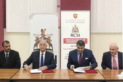 Gulf Medical University Signs MoU with Royal College of Surgeons in Ireland (RCSI) Bahrain for Collaboration in Medical Education, Research