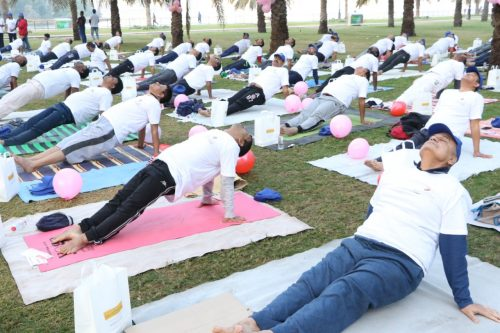 Thumbay Hospital Day Care Rolla Sharjah Conducted Mega Yoga Session