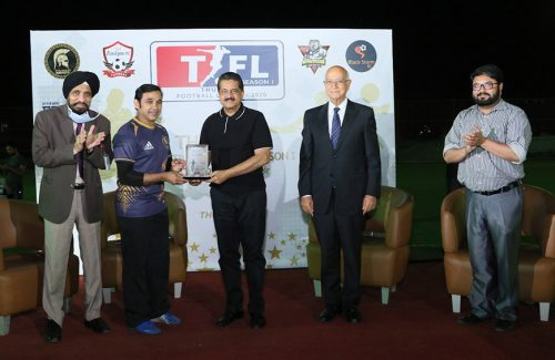 THUMBAY FOOTBALL LEAGUE 2020 first of its kind in the Northern Emirates UAE Launched and Inaugurated by the Chief Guest Dr. Thumbay Moideen, Founder President – Thumbay Group